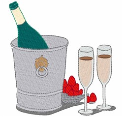 Iced Champagne embroidery design
