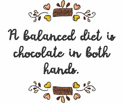Chocolate In Both Hands embroidery design