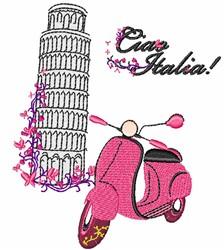 Ciao Italia! embroidery design