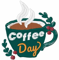 Coffee Day embroidery design