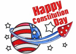 Happy Constitution Day embroidery design