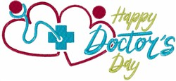 Happy Doctors Day Stethoscope embroidery design