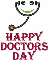 Happy Doctors Day Cartoon embroidery design