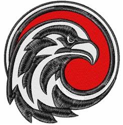 Falcon Icon embroidery design
