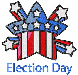Election Day Starburst embroidery design