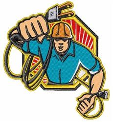 Electrician Logo embroidery design