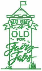 Never Too Old embroidery design