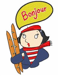 Bonjour Woman embroidery design