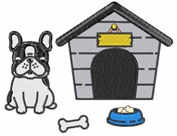 Dog & Doghouse embroidery design