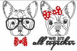 We Are All Together embroidery design