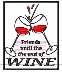 The End Of Wine embroidery design