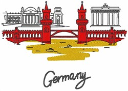 Germany Structural Scene embroidery design