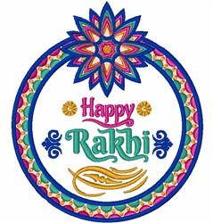 Happy Rakhi embroidery design