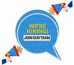 Join Our Team embroidery design