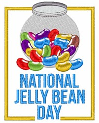 National Jelly Bean Day embroidery design