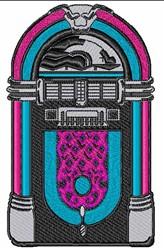 Vintage Juke Box embroidery design