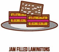 Jam Filling Lamingtons embroidery design