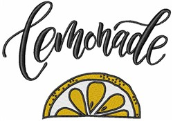 Lemonade Lemon embroidery design