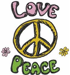 Love & Peace embroidery design