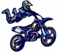 Motocross Trick embroidery design