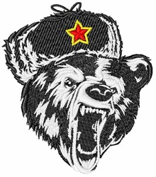 Growling Russian Bear embroidery design