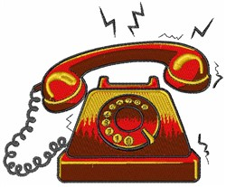Ringing Telephone embroidery design