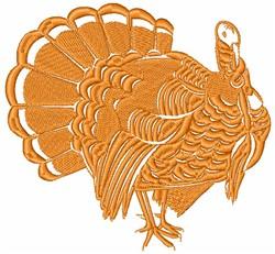 Turkey SIlhouette embroidery design