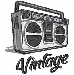 Vintage Radio embroidery design