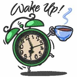 Wake Up Coffee embroidery design