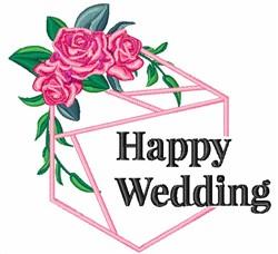 Happy Wedding! embroidery design