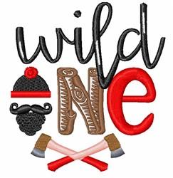 Wild One embroidery design