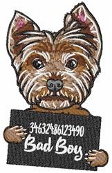 Yorkshire Terrier Mug Shot embroidery design