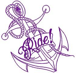 Ride embroidery design