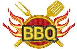 BBQ embroidery design
