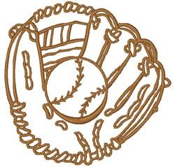 Glove & Ball embroidery design