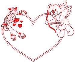 Teddy Cupid embroidery design