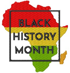 Black History Month embroidery design