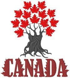 Canada embroidery design