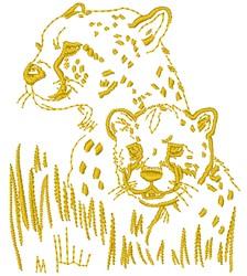 Cheetahs embroidery design