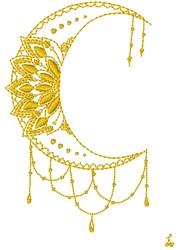 Jewel Moon embroidery design