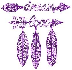 Dream Love embroidery design