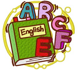 English Book embroidery design