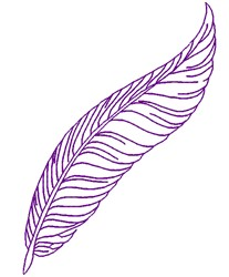 Feather Outline embroidery design