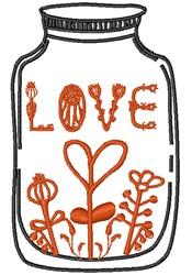 Love Jar embroidery design