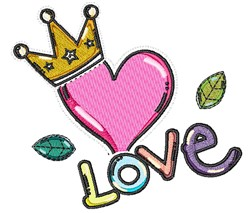 Royal Love embroidery design