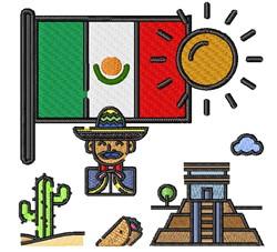 Mexico Scenes embroidery design