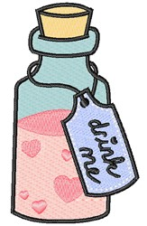 Drink Me embroidery design