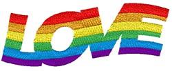 Rainbow Love embroidery design