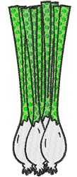 Spring Onions embroidery design