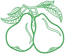 Pear Outline embroidery design